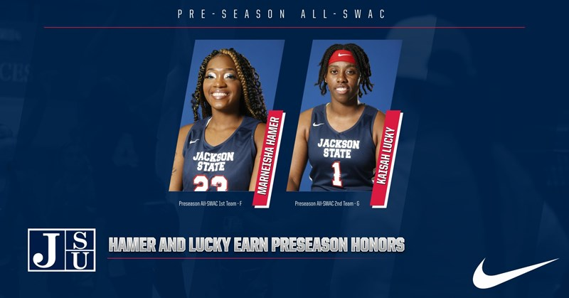 Hamer and Lucky Named Preseason All-SWAC; Lady Tigers Picked Preseason No. 2